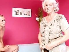 Granny Betty fucks young cock