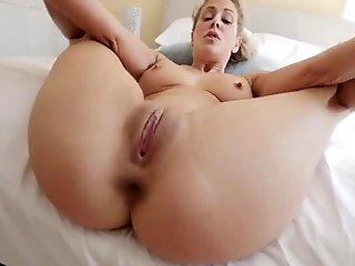 Nude with wet shaking boobies and perfect ass in porno