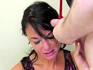 Brunette milf rough first time Talent Ho