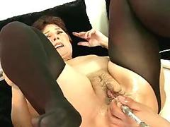 Nasty Hailey Young riding a black monster pipe and gets a messy cumblow