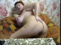 Russian mature showing her ass and pussy