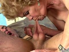 Fucking, Throat, Gorgeous, Cum In Mouth, Blonde thumb