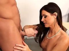 Old gilf gets creampied after riding