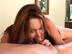 Old slut Gigi happily takes her man's pole into her sexy mouth