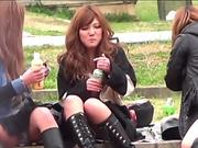 Japanese babes in boots