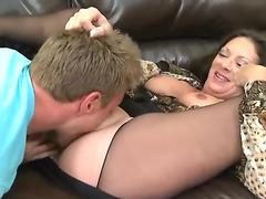 Handsome guy picks up and fucks horny milf