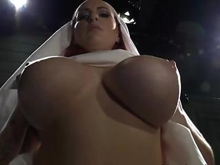 Busty BDSM femdom babes punishing sub slaves