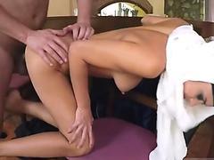 Horny big tits enjoys taking cock