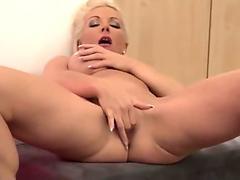 Juicy hot milf Aimee Addison getting fat cock slamming steamy gash