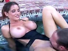 Underwater pussy licking!