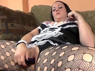 ChickPass - Horny maid Selena Sky fucks her toy