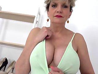 It's titty time with big boob mature Lady Sonia