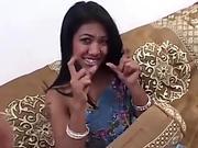 Indian Teen Sucks and Fucks White Cock