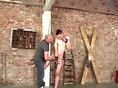 Tiedup young submissive gets rough paddling from master