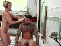 Classy brit milf pussyrubbing with schoolgirl