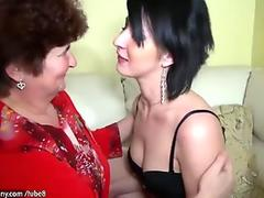 Older women fucking with younger women and licking women pussy