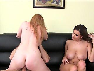 Two Hot Wild Shemales Masturbating