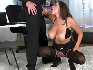 Cute kitty wants milk - Sloppy Blowjob with Facial - Amateur RosieSkywalker