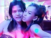 Thai Pattaya Bargirls French Kissing (October 10 2020, Pattaya)