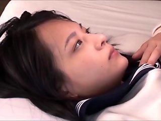 schoolgirl Abe Mikako bj's and swallows