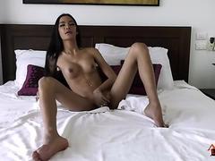 Beauty Asian Teen Get Big Cock Hard