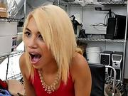 Asian informal girl is extremely surprised by the conditions of porn casting.
