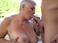 pussy licking on the beach man cums in 30 seconds must eat own creampie
