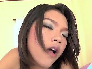 Thai schoolgirl stuffed with hard cock