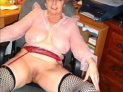 Oiled up redhead mama is permeated hard