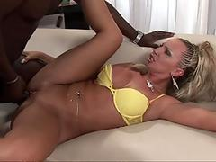 Sexy MILF Francesca Felluci gets drilled by a huge juicy black cock