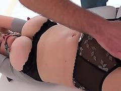Teen becomes a slave of a meaty mature dick