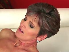 Sexy Lisa Daniels blowing and banging a long meaty cock