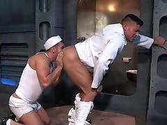 Ass rimming brawny sailor