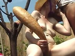 crazy 84 years old granny gets outdoor toyed and rough fucked by her young toyboy