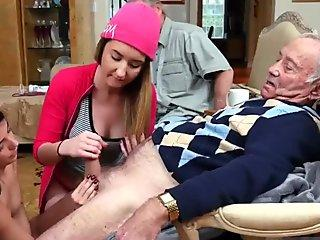 Thick girl with huge natural tits gives sloppy fuck