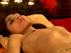 Blonde Carmen Valentina gags on a hard dick sex tubes
