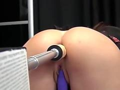 Anal Squirt Fuck Machine in Sweet little French Asshole on Webcam