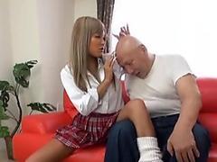 Subtitles Japan schoolgirl and bald old man head