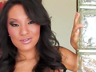 Superstar Asa Akira shows off her charms in the bathroom and brings herself to orgasm with an anal toy.