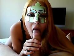 Spirited large rod transsexual hustler