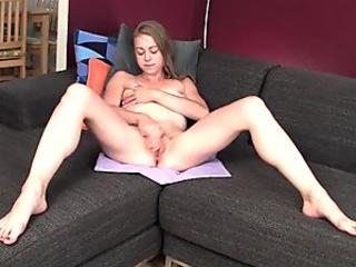 Stacey Foxxx and her lovely boobs is doing a blowjob for a bald guy