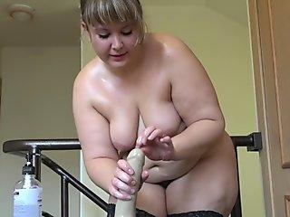 plus-size penetrate faux-cock, Her Large Ass!