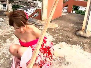 Jap tramp Nozomi Kawasaki dresses like a horny geisha