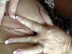 Stunning big natural tits babe gets her pussy slammed