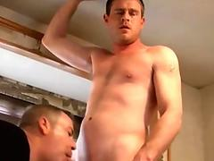 Horny gay amateur gets his mouth filled with a juicy cock
