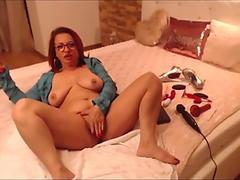 Girl with anime body fast twerking on dildo
