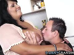 Hot blonde Misty Mild gets her tiny pussy pounded hard and takes a messy facial