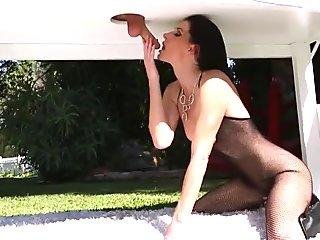 Blowjob my GF ends in cum overloaded mouth