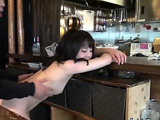 Jav first-timer Yuna boinked In Restaurant round Teen In Uncensored Action Debu
