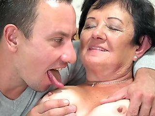 Amateur twunk massaging his cock until cum
